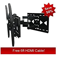 Premium Full Motion Articulating TV Wall Mount for LG 55 LED LCD 55LE5500 HDTV **Free HDMI Cable**