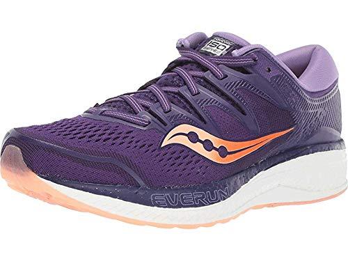 Saucony Women's Hurricane ISO 5 Purple/Peach 10 B US by Saucony