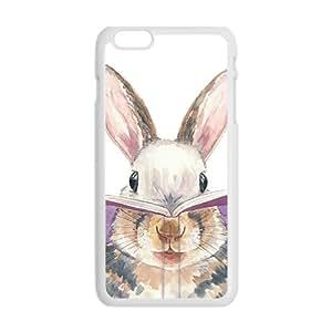 Cute Rabbit Cartoon White iPhone plus 6 case