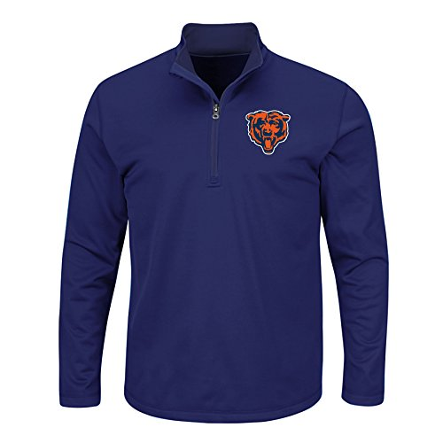 NFL B&T Team 1/4Zip Birdseye Poly Shirt, 4X, Navy