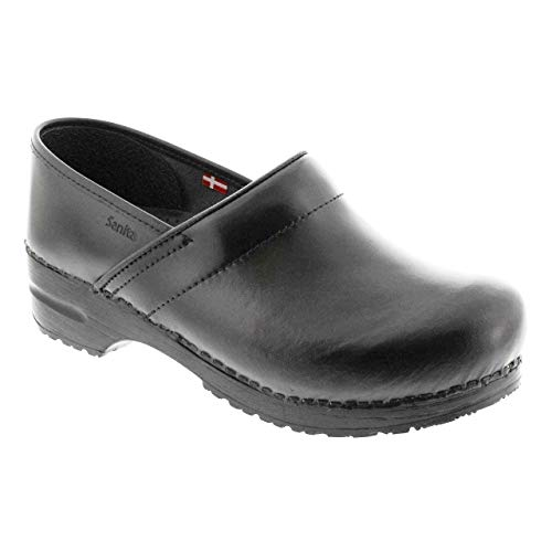 - Sanita PROFESSIONAL Women's Cabrio Leather Clogs (Factory 2nd) / Black/EU-39 (8-8.5 US)