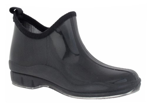 Back Jelly Black Combo York With Ladies New Shoe Shiny Bootie Loop Capelli On Body Pull Slip Solid ZOwfXanq