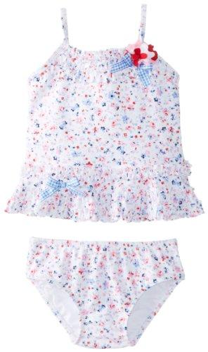 Kate Mack Baby Girls' Sunkissed Roses Tankini, Blue, 12 Months - Kate Nylon Tankini Mack