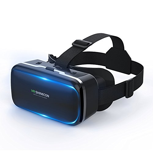VR Headset Virtual Reality Headset Lightweight 3D VR Glasses Compatible with IOS, Android and Other 4.7-6.0 inches Smartphones-VR SHINECON