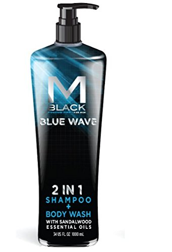 M.Black Signature Series 2 In 1 Shampoo + Body Wash With Sandalwood Essential Oils - Blue Wave -  MB8035A
