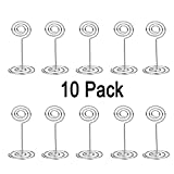 Care4U Table Photo Holder, 20 Pack Wire Shape Number Card Note Memo Picture Paper Clip Holder Stand for Wedding Birthday Parties