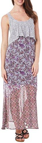 OneWorld Petite Crochet Overlay Maxi Dress X-Large Purple