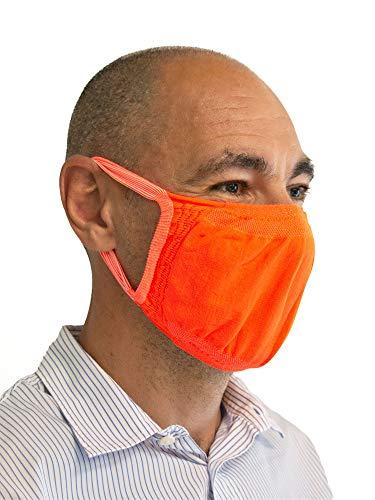 Relaxsan - Set 3 [Arancio Fluo] Fasce filtranti Viso Bocca Naso Lavabili riutilizzabili assorbenti Tessuto… 1 spesavip