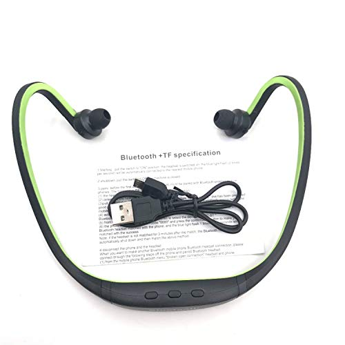 Amazon.com: Sports Bluetooth Headphones Wireless Fone De Ouvido Auriculares Bluetooth Headset MIC S9 Support TF/SD Card Handfree Earphone,Green: Cell Phones ...