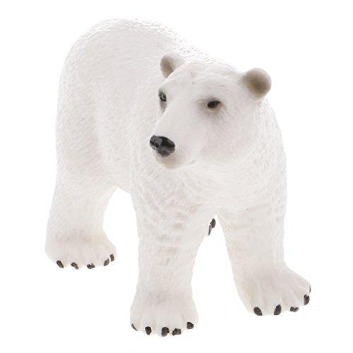 Juguete Realista Animal Salvaje Figura de Acción Modelo Oso Polar ...