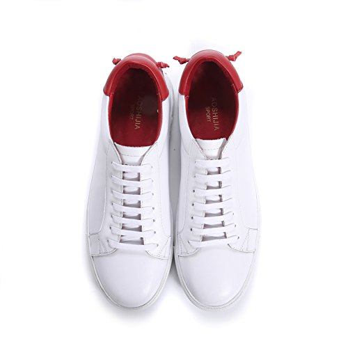 ups Fashion Lace Woman Shoes Unisex Santimon Sneakers Loafers Red Men Walking 6ZxB1RWU