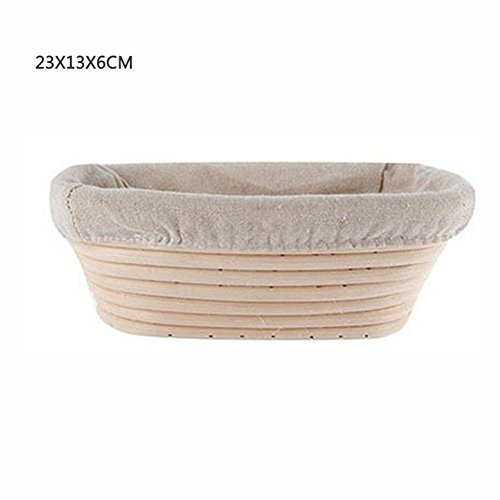 Younar Oblong Bread Proofing Baskets Fruit Basket with Linen Liner by Younar