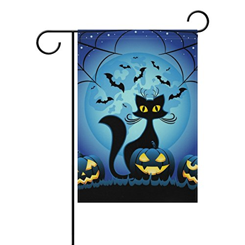 U LIFE Decorative Happy Halloween Black Cat Full