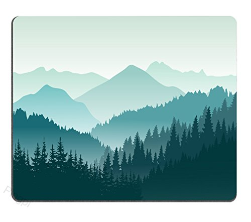 Pingpi Gaming Mouse Pad Custom,Beautiful green mountain landscape Mouse Pad 9.5 X 7.9 Inch (240mmX200mmX3mm)