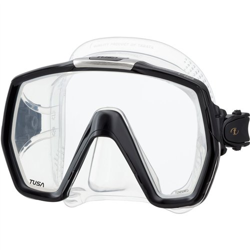 TUSA M-1001 Freedom HD Scuba Diving Mask, Black/Energy Orange