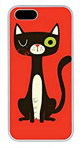 iCustomonline Monster Riot On Red Funny Case for iPhone 5C Soft TPU White