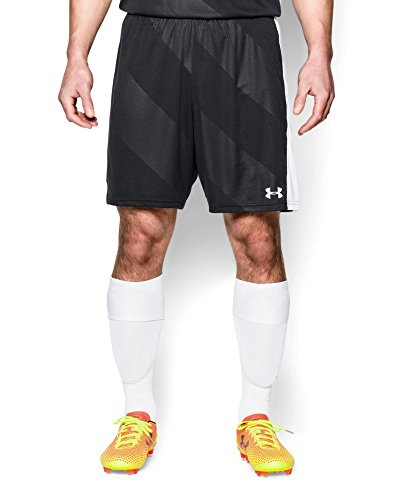 Under Armour Men's Fixture Soccer Shorts, Black/White, Mediu