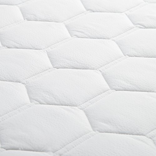 Mattress Pad Queen Size Hypoallergenic Antibacterial Breathable mega fluffy Quilted Mattress Protector Fitted piece Mattress Cover White by Bedsure