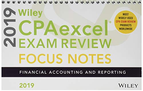 Pdf Test Preparation Wiley CPAexcel Exam Review 2019 Focus Notes: Financial Accounting and Reporting
