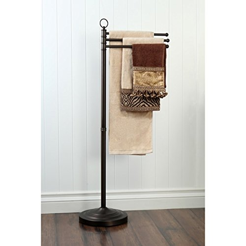 Pedestal Towel Bar Bronze Oil Rubbed Bathroom Stand