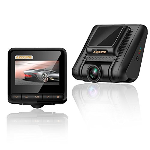 Dash Cam,AZDOME Mini Full HD 1080P Dashboard Camera,170°Wide Angle Driving Video Recorder with G-Sensor, Loop Recording, Parking Monitor, Motion Detection and Night Vision