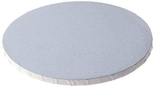 W PACKAGING WPDRM18W 1/2″ Thick, Round Cake Drum, Corrugated with Coated Embossed Foil, Covers Top and Sides, 18″, White (Pack of 12)