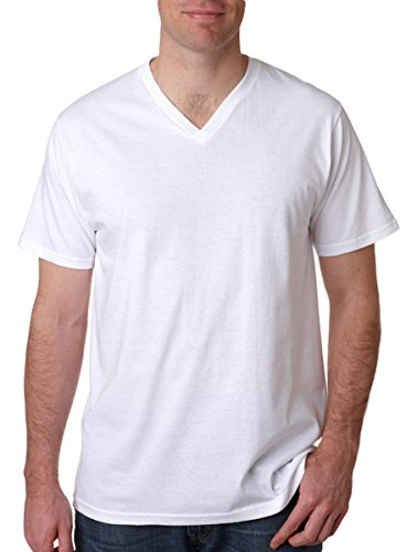 Anvil Adult Tri-Blend V-Neck T-Shirt, Wht, Large