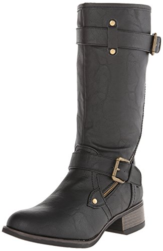 Wild Pair Women's Poulsbo Motorcycle Boot,Black,7 M US by Wild Pair