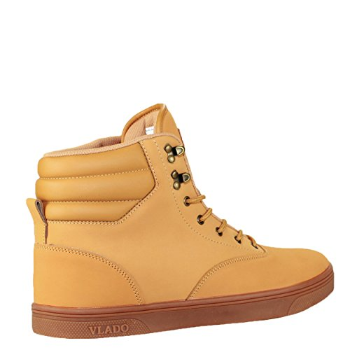 Vlado Footwear Mens Milo High Top Sneaker Boot Wheat dKNfN