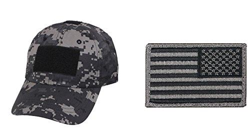 Subdued Urban Digital Camo Cap + USA FLAG PATCH FOLIAGE GREEN RIGHT
