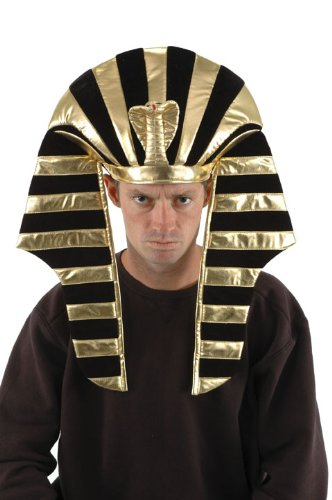 [elope Black and Gold King Tut Hat] (Pharaoh Headdress)