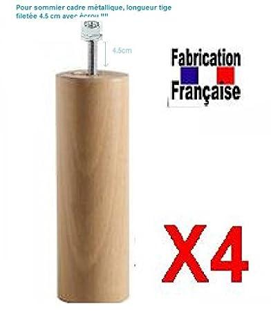 Wood select Set di 4piedi 30cm naturale Different tipo di fissaggio support anti dérapant