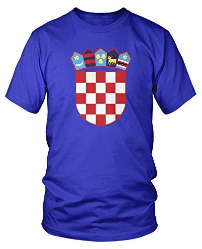 (Amdesco Men's Coat of Arms of Croatia, Croatian Arms T-Shirt, Royal Blue 2XL)