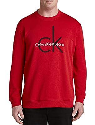 Calvin Klein Big and Tall Jeans Logo Pullover Sweatshirt