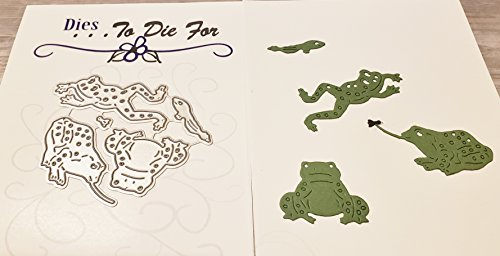 Dies to die for metal craft cutting die - Frogs set small - Pond collection