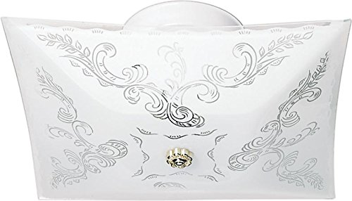 Nuvo SF77/126 Square Floral Design Close to Ceiling Fixture - Floral Ceiling Fixture