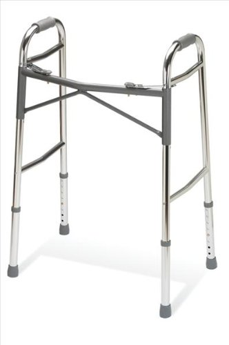 Medline Heavy-Duty Two-Button Folding Walkers, Adult