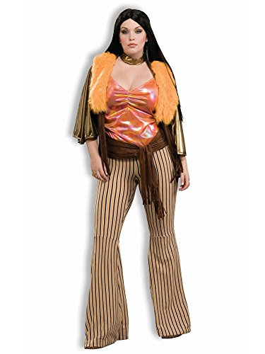 Forum Novelties Women's Plus-Size 60's Mod Revolution Babe Costume, Multi, Plus