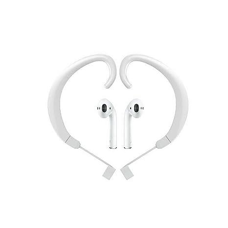 1 par correa Ear gancho para colgar soportes de accesorios para Airpods inalámbricos Bluetooth auriculares