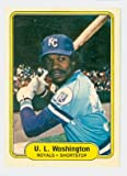 U.L. Washington AUTOGRAPH 1982 Fleer #424 Kansas City Royals