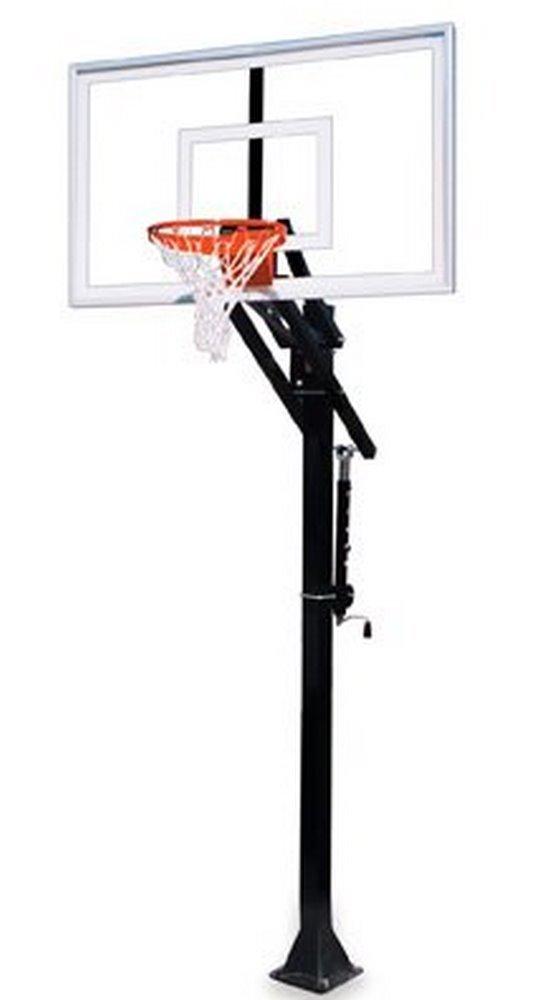 最初チームJam nitro-bp steel-glass in ground調整可能バスケットボールsystem44、スカーレット B01HC0CCSI