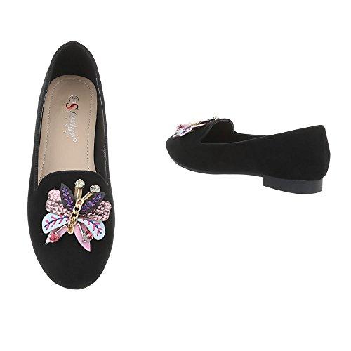 Women's Shoes, BALLERINAS, A-40 Schwarz T271
