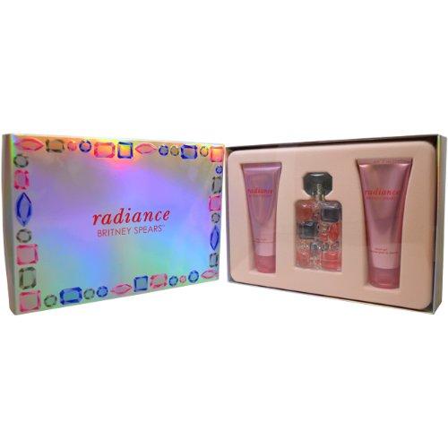 Britney Spears Radiance Women Giftset (Eau De Parfum Spray, Body Souffle, Shower Gel)
