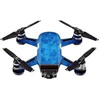 Skin For DJI Spark Mini Drone – Blue Retro | MightySkins Protective, Durable, and Unique Vinyl Decal wrap cover | Easy To Apply, Remove, and Change Styles | Made in the USA