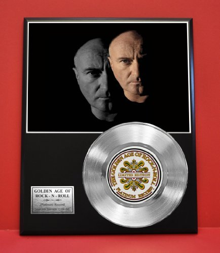 Phil Collins Limited Edition Platinum Record Display - Music Memorabilia Wall Art - from Gold Record Outlet