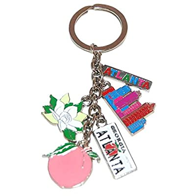 American Cities and States Metal Quality Keychains (Atlanta): Office Products