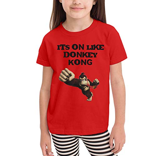 Rusuanjun It's On Like Donkey Kong Children's T-Shirt Red 5/6T Fun and Cute