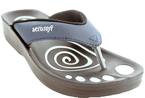 Aero Kvinners Softy Sandal Navy