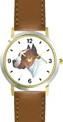 Pit Bull JP Dog - WATCHBUDDY DELUXE TWO-TONE THEME WATCH