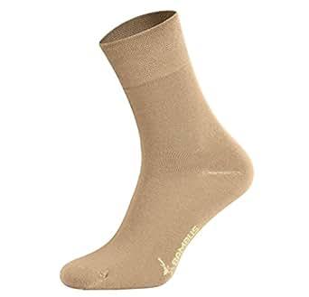 34f14e146 Tobeni 6 pares de calcetines de bambú sin caucho como mujer y hombre ...